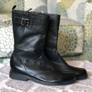 Gap Kids | Girls Black Tall Buckle Boots Zipper